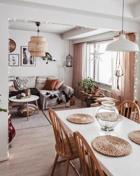 室內風格 北歐波西米亞風客餐廳