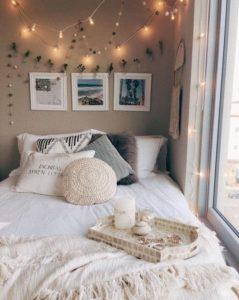 臥室佈置 燈串