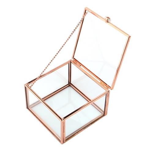 玫瑰金復古玻璃飾品盒
