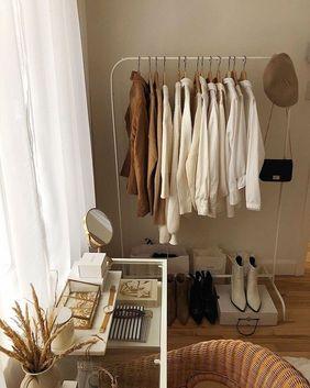 如何佈置臥室 衣櫃外衣帽架