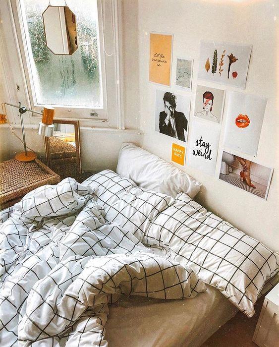 臥室佈置 明信片 海報