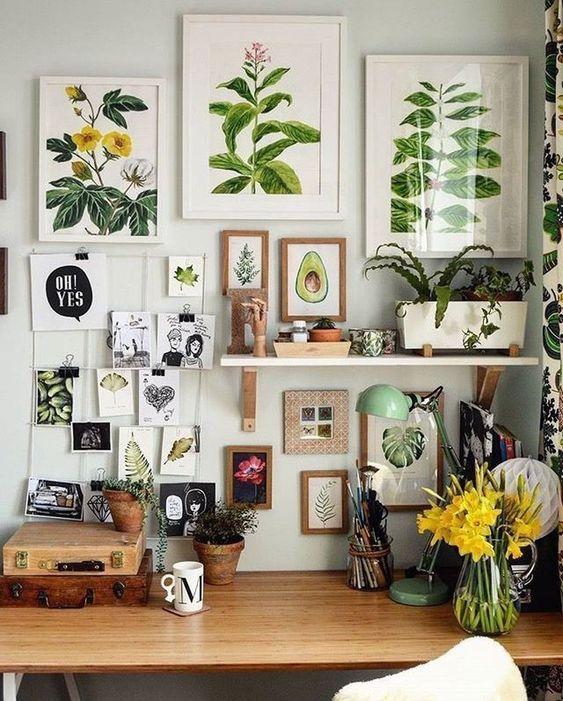小空間佈置 植物掛畫